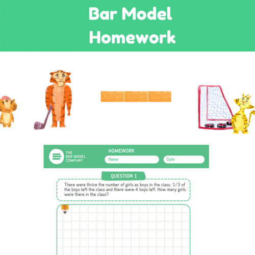 Bar Model Homework Worksheets